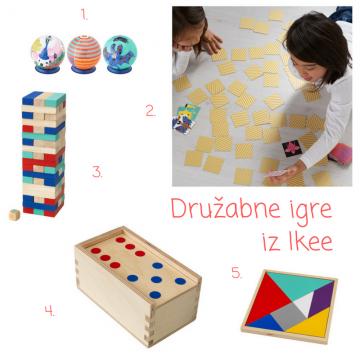 Družabne (namizne) igre za otroke (Ikea)