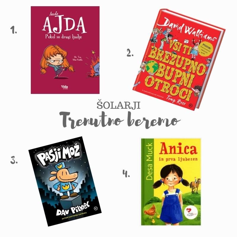 Trenutno beremo: Predlogi za samostojno branje naših šolarčkov.